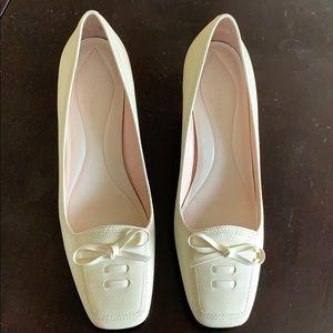 Cole Haan off white heel